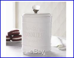 Vintage Mud Pie Circa Cookie Jar with Glass Knob Handle