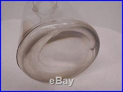 Vintage One GALLON Glass BOTTLE Storage CANNING JAR Jug WOOD HANDLE 11 1/4 tall