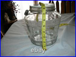 Vintage Oscar Ewing Creamed Cottage Cheese bucket container wire wood handle