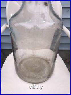 Vintage Owens 5062 5 Gallon Glass Pickle Jar Wire Handle