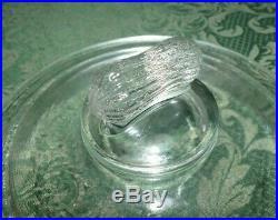 Vintage Planters Peanut 7 1/4 Round Glass Jar Lid with Peanut Handle Top