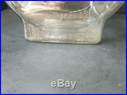 Vintage Planters Peanut Clear Glass Counter Display Jar Finial Handle Lid
