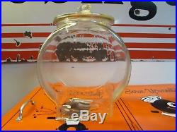 Vintage Planters Peanut Glass Jar Peanut Handle Lid