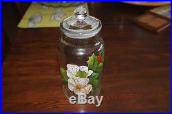 Vintage Ravenhead glass jar with stopper lid, knob handle. England