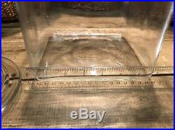 Vintage Square Planters Glass Jar withPeanut Handle Lid in Good Condition