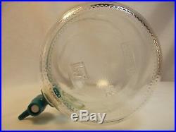 Vintage Sun Tea Leaves Glass Sun Ice Tea Jar Jug Pitcher With Spout & Handle