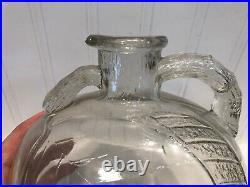 Vintage WHITE HOUSE VINEGAR Glass Jar Bottle APPLE with Handle & Spout #2