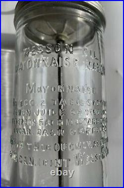 Vintage Wesson Oil Mayonnaise Maker/Mixer with Recipe Embossed on the Glass #14