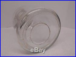Vtg ONE GALLON Glass Storage CANNING JAR Jug ATLAS EDJ WOOD HANDLE 11.5 Bottle