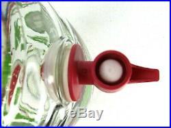 Watermelon Barrel Shaped Glass Sun Ice Tea Jar Jug Pitcher With Spout & Handle