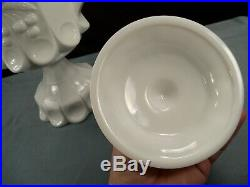 Westmoreland Milk Glass CHERRY Pattern Covered Footed Handled Cookie Jar