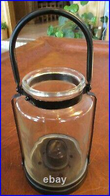 Yankee Candle Glass Jar Candle Holder Hanging Table Black 12 with Handle Votive